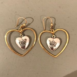 Authentic Juicy Couture Heart Locket Earrings